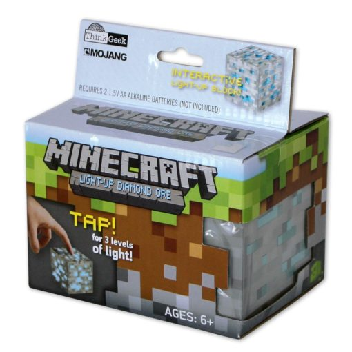 Minecraft Light Up Diamond Ore box