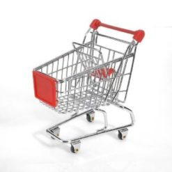 Mini Supermarket Trolley Cart Red