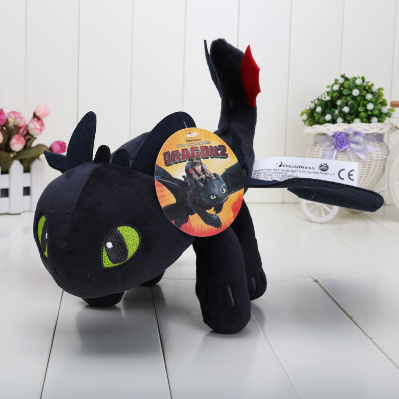 How To Train Your Dragon Toothless Dragon Plush Toy 33cm Geekswag
