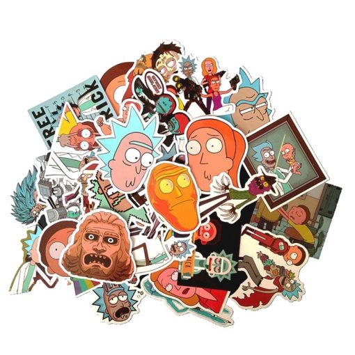 Rick and Morty Waterproof Stickers (pack of 35)