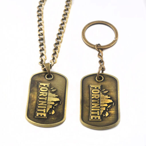 Fortnite Necklace & Keychain Set