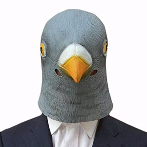 Pigeon Bird Head Mask Latex Rubber
