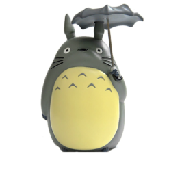 Totoro PVC Coin Bank with Umbrella