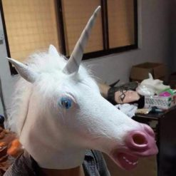 Unicorn Head Mask Latex Rubber